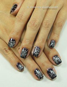 Cobwebs Nail Art Design by Simply Rins