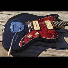 Black Offset with Tort / Med C neck profile / custom Voodoo pickups  #danocaster #spitfiretort #jazzmaster