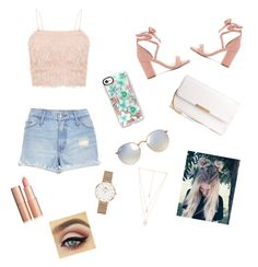 """summer chic"" by lisacarmen13 on Polyvore featuring River Island, Raye, Ray-Ban, Casetify, Natalie B and Daniel Wellington"