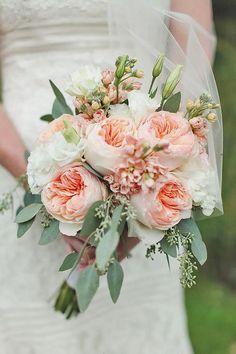 Glamorous Blush Wedding Bouquets That Inspire ❤ See more: http://www.weddingforward.com/blush-wedding-bouquets/ #weddings #weddingbouquets