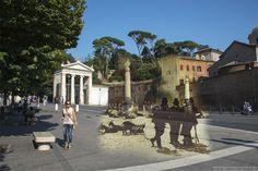 Pastori a Piazzale Flaminio.