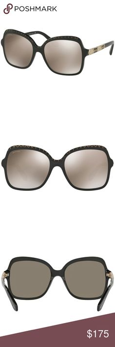 fe89e7b0c2fa Bvlgari Sunglasses Black Gold Mirrored Lens Buy with confidence from an  established dealer since 2005