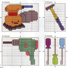 ♥ Korsstygns-store ♥: TOOL-cross stitch patterns