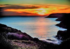 Sunset, Caswell Bay ,Digital download by HLDCreations on Etsy