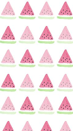 Watermelon Watercolour Simple iPhone Wallpaper Home Screen @PanPins