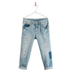 Pantalón denim bordado en azul claro de ZARA NIÑOS SS13. Comprado en rebajas  por 12 c09a5adfbc1
