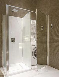 Vismaravetro's Shower and Washer in One | Apartment Therapy