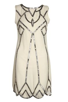Lucy Deco Embellished Scalloped Shift Dress