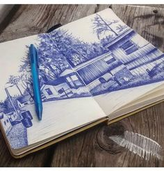Boligrafo, Blue. Sketch, Personalized Items, Dibujo, Art, Sketch Drawing, Sketching, Sketches