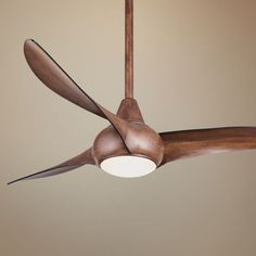 "Minka Aire Light Wave Ceiling Fan - 52"" Distressed Koa"