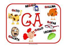 LEARNING IS FUN!: CARTELES GA GO GU GUE GUI GÜE GÜI