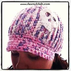 I didn't like the original design of the brim I had made for my newsboy ribbed adult beanie so I ripped it out and made a new one. Pattern available for both brims.Crochet Newsboy Ribbed Adult Beanie - Dearest Debi Patterns