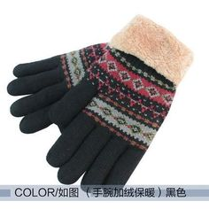Mens Womens Warm Wool Blend Lined Winter Gloves - 5 Colours
