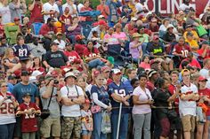 Patriots and Redskins fans at joint-practices in Washington