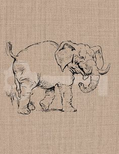 Happy elephant funny animals Image digital by TanglesGraphics, $1.00