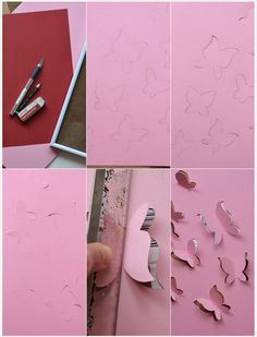 Deko-DIY: 3D-Schmetterlinge für die Wand    Deco-DIY: 3D butterfly wall art