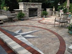 Stonehenge patio with Umbriano and Il Campo accents by Unilock North America, via Flickr