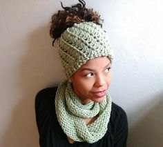 The Messy Bun Hat was the crocheters hit of this season. I don't know how many times I got asked to make one of these. I have seen many variations on the hat so far. I just wanted to add a tw…