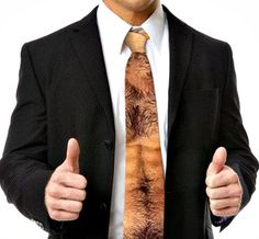 If you happen to be at a function where actual chest hair is inappropriate (which you try to avoid at all costs anyway), this Hairy Chest And Stomach Tie ($35.00) will be positively perfect.