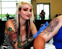 Artist at the Wildwood Tattoo Convention in New Jersey - 2014