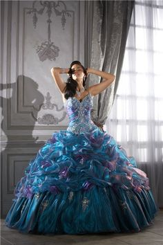 See extra choices about Quinceanera Find the very best quinceanera dresses in your area! Discover quinceanera dresses as well as where to get them! Quince Dresses, 15 Dresses, Bridal Dresses, Bridesmaid Dresses, Formal Dresses, Peacock Wedding Dresses, Dress Wedding, Cheap Dresses, Masquerade Wedding Dresses