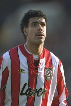 Here's Chris Kamara sporting a neatly-trimmed mustache during his time with Sheffield United in the early 1990's. Now seen as a pundit and presenter for Sky Sports, Kamara has made the mustache his calling card.