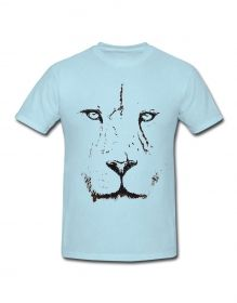 Lion face printed tshirt for men