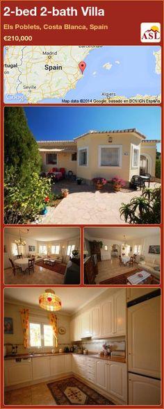 2-bed 2-bath Villa in Els Poblets, Costa Blanca, Spain ►€210,000 #PropertyForSaleInSpain