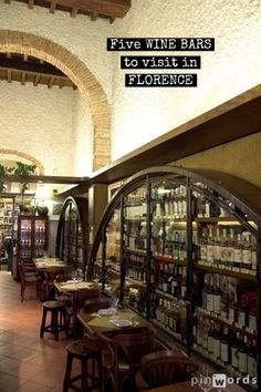 Five Wine Bars to Visit in Florence Italy http://mymelange.net/mymelange/2010/02/five-wine-bars-in-florence.html