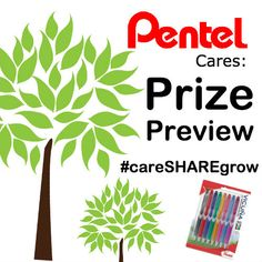 Join us Thursday April 16th between 4-5pm EST for our Pentel Cares: Twitter Party event. Plant trees and win prizes! Follow @Shoplet +@PentelofAmerica on Twitter with the Hashtag #careSHAREgrow to keep up with the conversation.