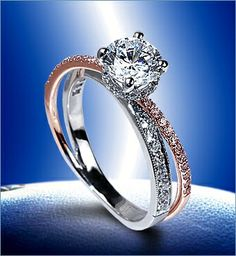 I'd really love this if it was made without the pave bands and the weird bottom halo beneath the stone.    2077-18KWR-WPD