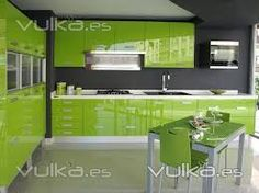 lime green kitchens - Google Search