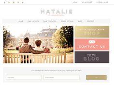 Ecommerce Wordpress Theme / Responsive Genesis Child Theme / Woocomerce Theme / Natalie Theme / Gold Coral Pink / Feminine Website /