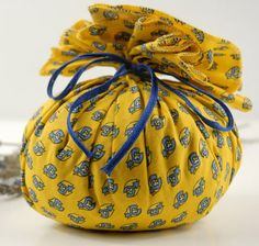 Provence Lavender Sachet Yellow and Blue  Fabric $14