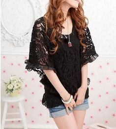 Off Shoulder Lace Batwing Top   Sprence
