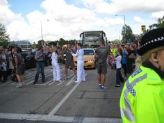Me receiving the flame from holly.
