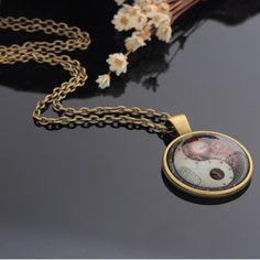 Yin Yang, Pocket Watch, Steampunk, Pendant, Accessories, Jewelry, Jewlery, Jewerly, Hang Tags