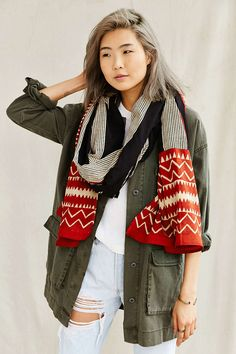 Stitchwallah Wide Stripe Shawl - Urban Outfitters