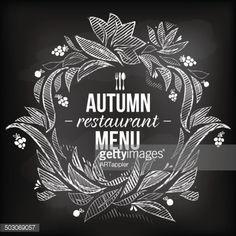 ベクトルアート : Autumn restaurant menu board