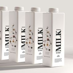 Taha Fakouri - Concept milk Packaging design - World Brand Design Society / Why should cow's photography, scenery, nature and the like be used in the design of the lion, or most ultimately the most creative is the use of cow dots in packages Cheese Packaging, Milk Packaging, Beverage Packaging, Brand Packaging, Design Packaging, Packaging Ideas, Brochure Design, Branding Design, Identity Branding