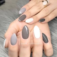 21 Hot Almond Shaped Nails Colors to Get You Inspired to Try ❤️ Winter Grey Almond Shaped Nails picture 1 ❤️ Do you have almond shaped nails? If not, you should try this nail shape right now. And then embellish it with one of these trendy colors https://naildesignsjournal.com/almond-shaped-nails-colors/ #nails #nailart #naildesign #almondnails #almondshapednails