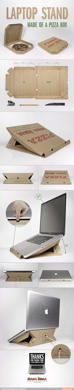 papel: caixa de pizza: porta lap top