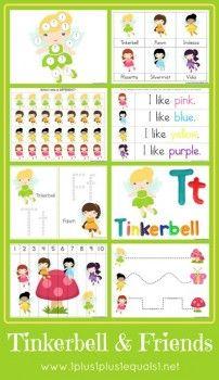 Free Tinkerbell & Friends Printable Pack