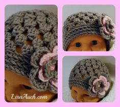 Easy Quick baby hat pattern (Free Crochet Baby Hat Pattern HERE.  Need pattern for this hat free instructions.