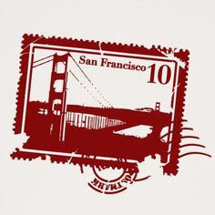 """Style and Apply San Francisco Stamp Wall Decal Size: 46"""" H x 59"""" W, Color: Copper"""