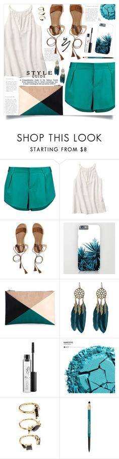 """""""OOTD - Summer Vibes"""" by artbyjwp ❤ liked on Polyvore featuring Alice + Olivia, Hollister Co., Sole Society, WithChic, MAC Cosmetics, Urban Decay, Noir Jewelry and Lancôme"""