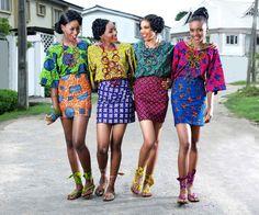 Ladies wearing African prints