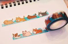 紙膠帶-狗狗們奔跑吧 | 紙膠帶 | LEBOO design | Creema 手作・設計購物網站