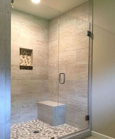 5 Lucky Clever Tips: Walk In Shower Remodeling River Rocks shower remodel diy walk in.Fiberglass Shower Remodel walk in shower remodel glasses.Walk In Shower Remodel No Door. Bathroom Shower Doors, Bathroom Ideas, Shower Tub, Master Shower, Frameless Glass Shower Doors, Bathroom Bench, Vanity Bathroom, Bathroom Shower Remodel, Budget Bathroom