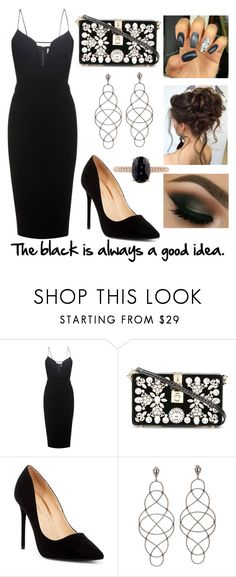 """""""#51"""" by mariangela06 ❤ liked on Polyvore featuring Victoria Beckham, Dolce&Gabbana, Liliana, Chateau, contest, black and dress"""